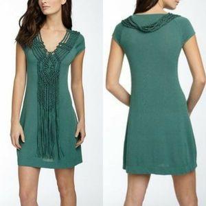 Nanette Lepore Galleon Silk Macrame Tassel Dress